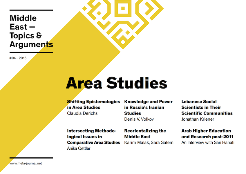 Ansehen Bd. 4 (2015): Area Studies