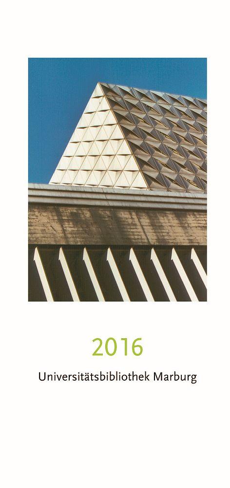 Coverbild Jahresbericht 2016